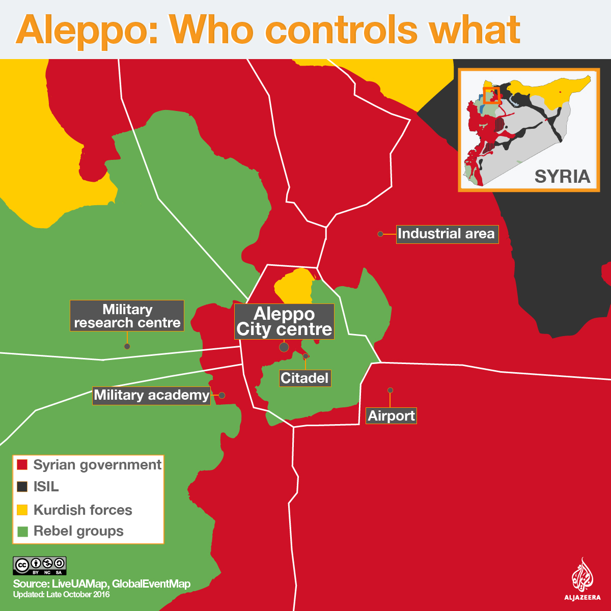 Syrian Army Makes Significant Gains In Aleppo Syria News Al - Map of area that us forces control in syria