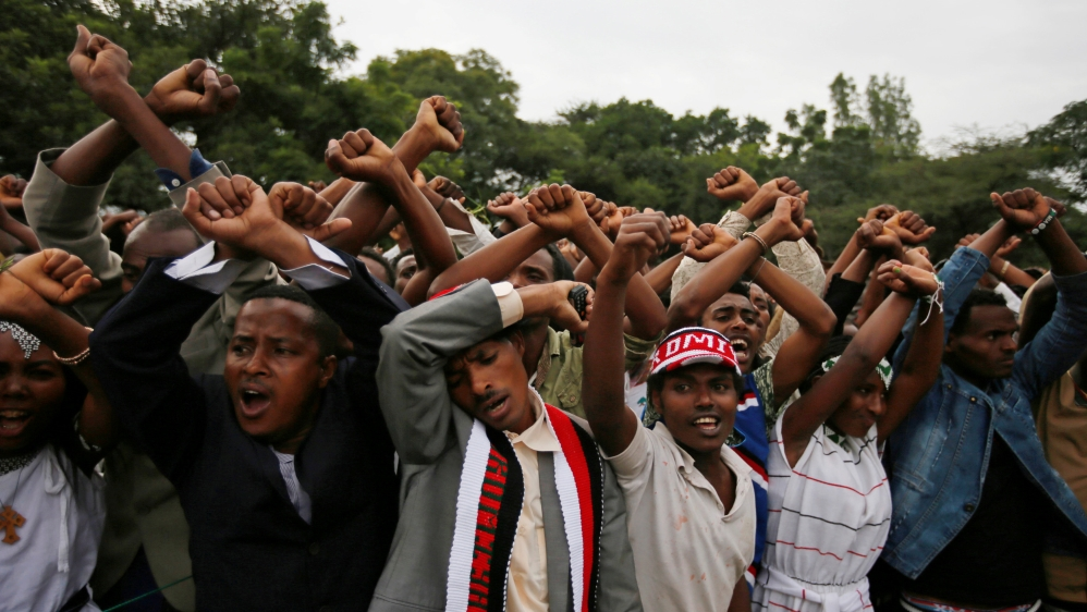Government declares a state of emergency effective immediately following violence and unrest in Oromia region.