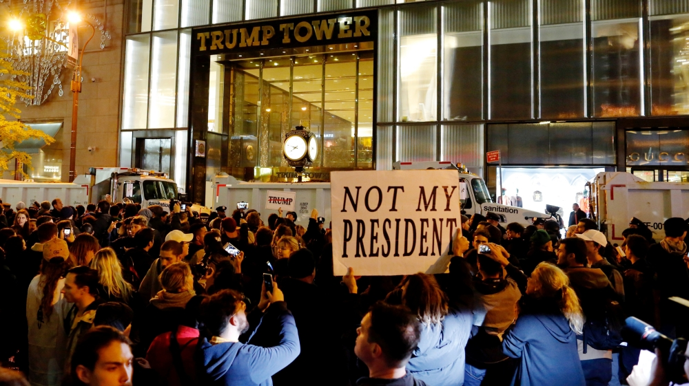 Not my President protests
