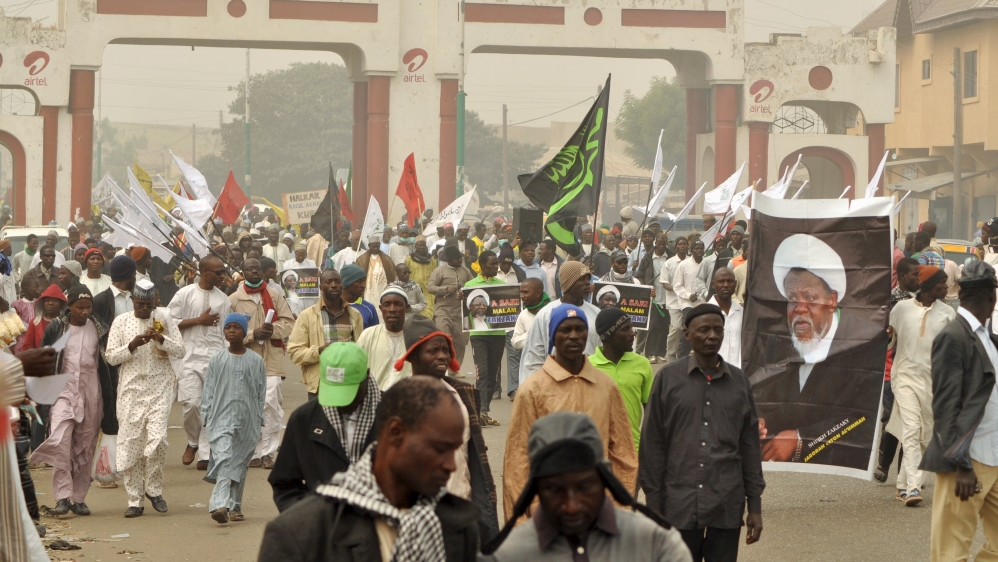 At least nine people killed in clashes between members of a Shia group and the police on the outskirts of Kano city.