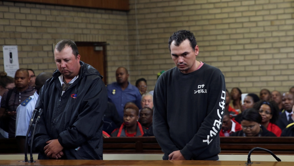 Protests erupt in Middelburg after widely circulated video clip shows two white men forcing a black man into a coffin.