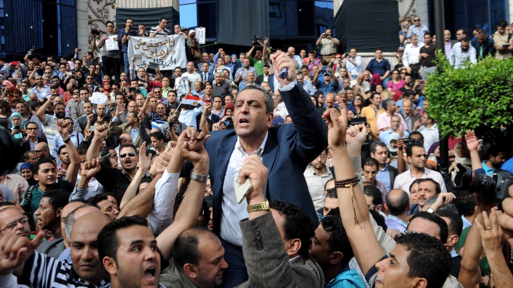 The ruling on against Yahia Kallash, head of the country's press union, and two others comes after a seven-month trial.