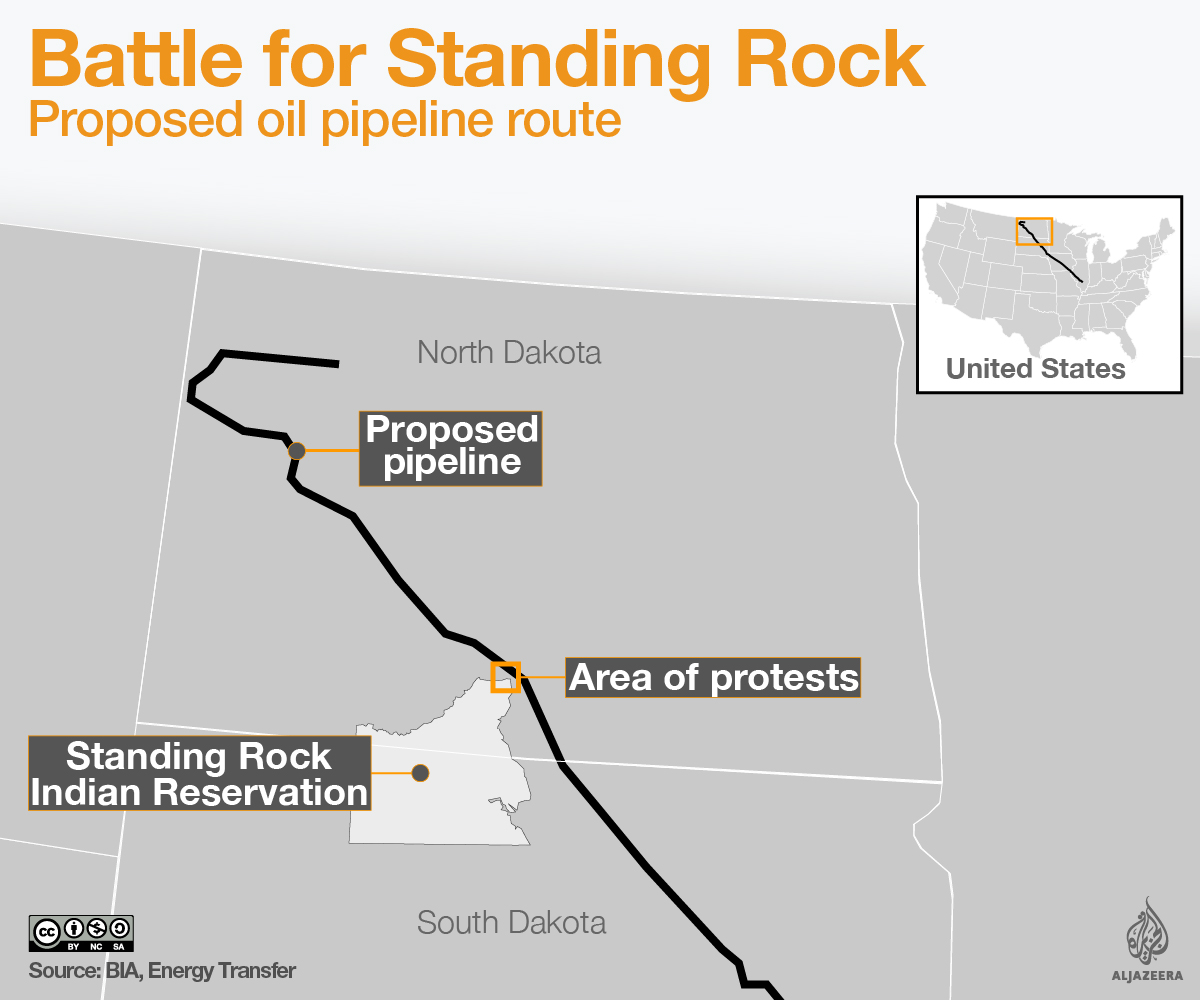 N Dakota Pipeline Protest Is A Harbinger Of Many More - Interactive map protests us