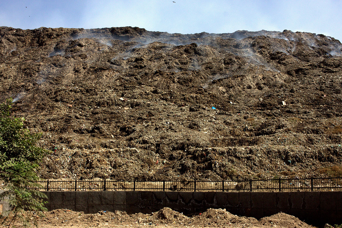 Currently, there are three large landfill sites in the city - Ghazipur, Okhla, and Bhalswa. All of them are overflowing and despite the predicted increase in waste, no alternative site has been offered by Delhi's civic authorities. [William Brown/Al Jazeera]