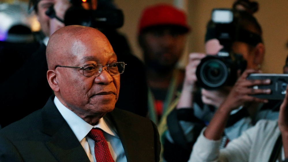 At least four ministers from the ruling ANC party had bid to oust South Africa's scandal-plagued president.