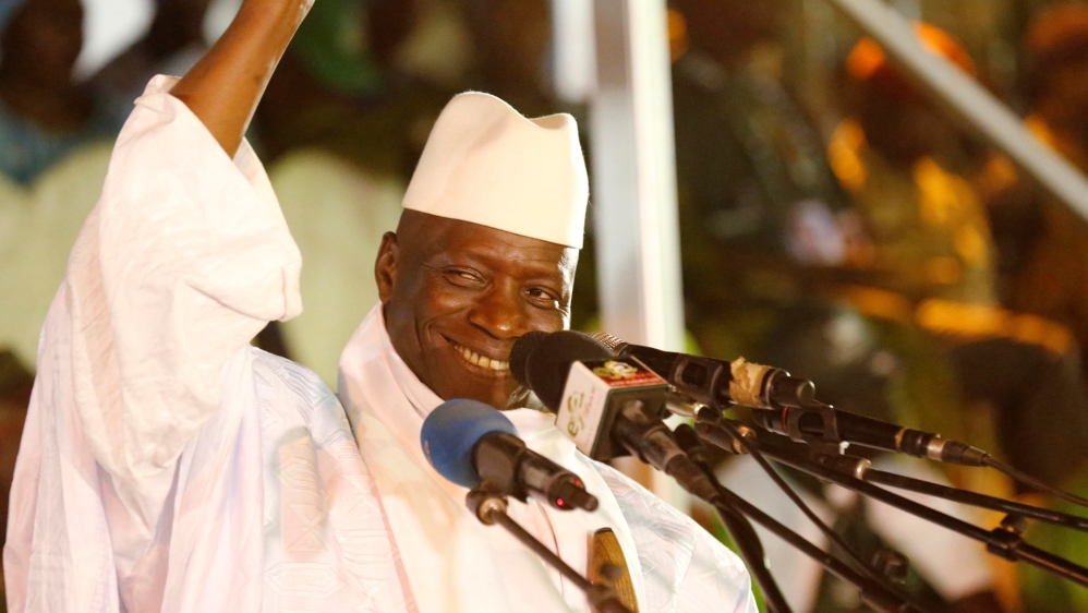 Yahya Jammeh, president since 1994, confident of winning yet another term in the office after Thursday's polls.