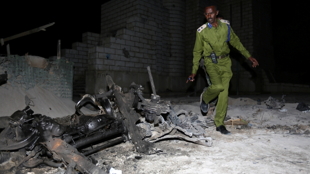 Al-Shabab claims responsibility for suicide car bomb attack targeting army convoy in the capital Mogadishu.