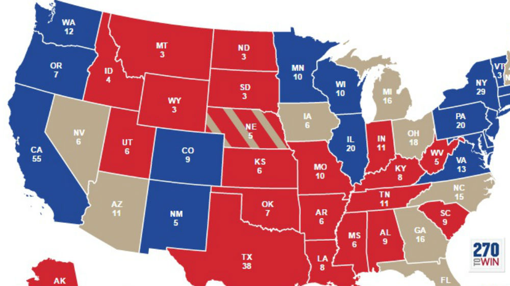 Donald Trump Vs Hillary Clinton How To Read US Polls Hillary - Interactive us electoral map