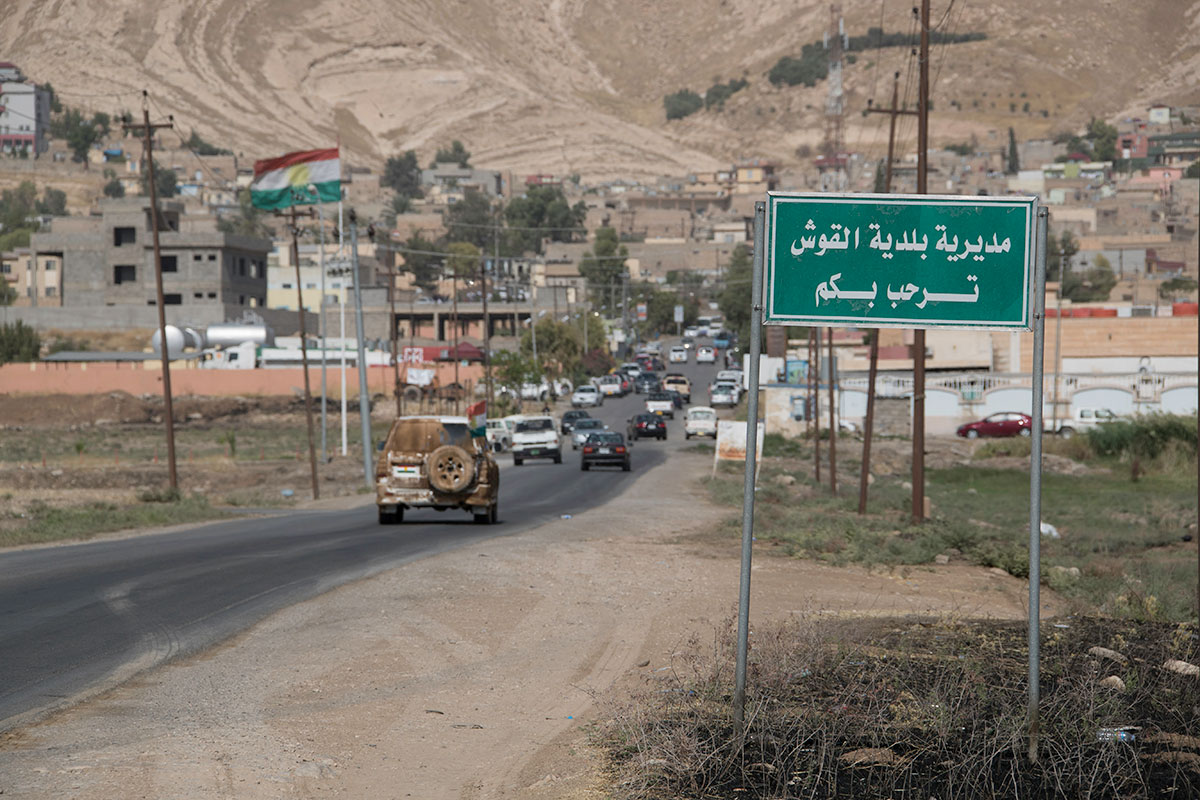 Al-Qosh was once the capital of the Assyrian Empire. It is also one of the closest towns in the Ninevah plains to the front lines with ISIL. [Layth Mushtaq/Al Jazeera]
