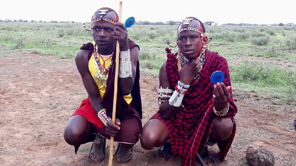 Biennial event is promoted by conservationists to curb lion hunting and spot talent among southern Kenya's Maasai tribe.