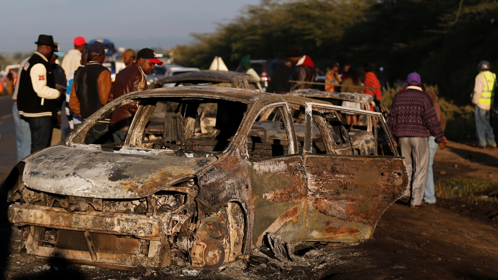 Witnesses describe massive fireball engulfing vehicles after tanker crashed on a major highway in Naivasha town.