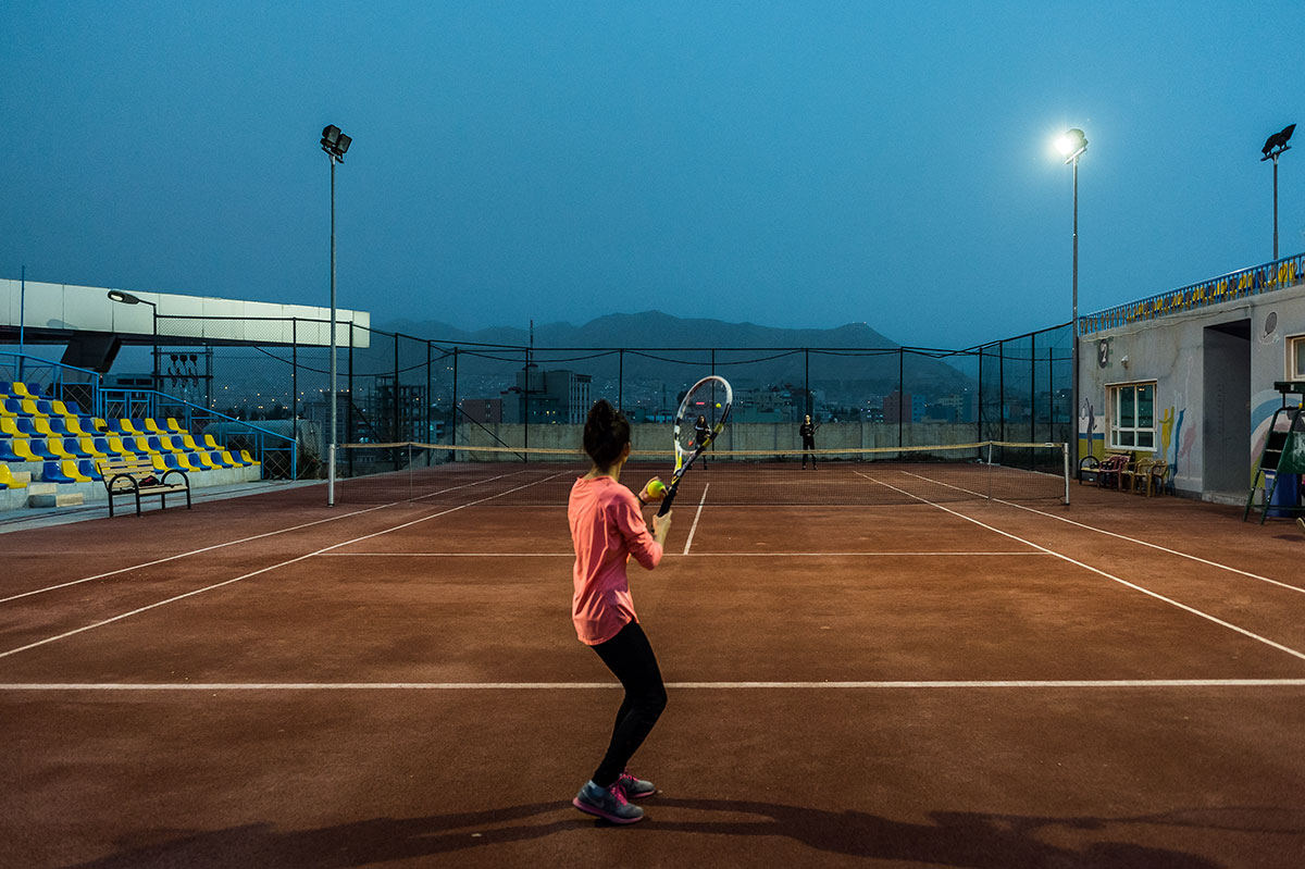 Sara Avdal Hassan says the sport of tennis is important to her because it can help her to achieve goals. [Alessandro Rota/Al Jazeera]