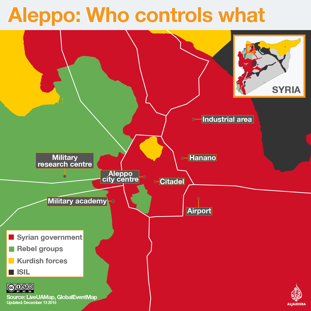 aleppo map syria rebels kurds
