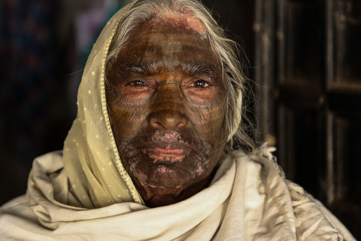 ed8ea84b0915b Samund Bai, 75, had her face tattooed upon her husband's insistence when  she was