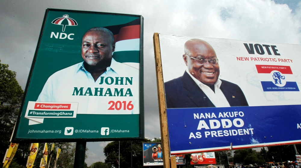 The race is tight with President John Mahama and his rival Nana Akufo Addo running neck and neck in opinion polls.