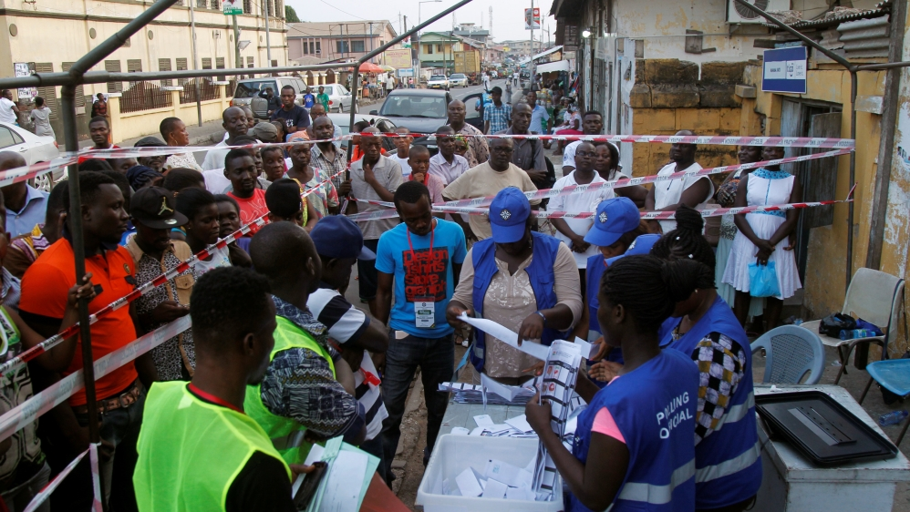 Elections come at a time of severe economic decline and reports of rising voter intimidation in west African nation.