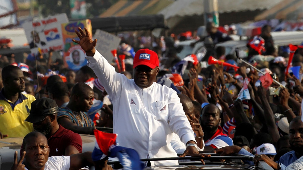 President Mahama concedes defeat to former foreign minister Akufo-Addo, who was making his third bid for the top job.