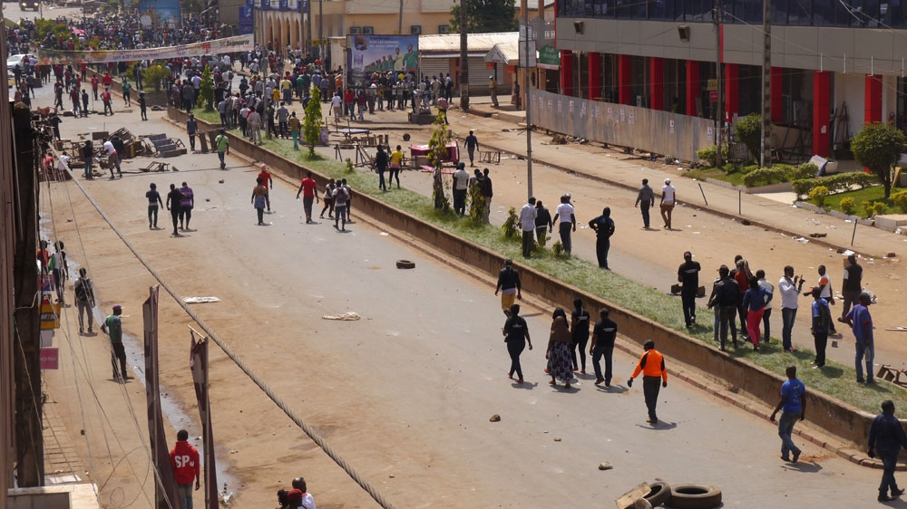 At least four people killed Thursday after police opened fire at demonstrators marching against President Paul Biya.