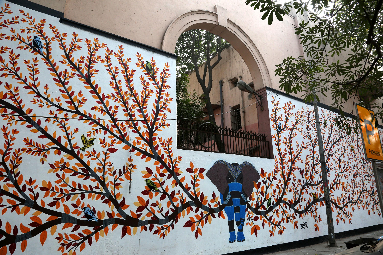 Delhi streets become a canvas Al Jazeera
