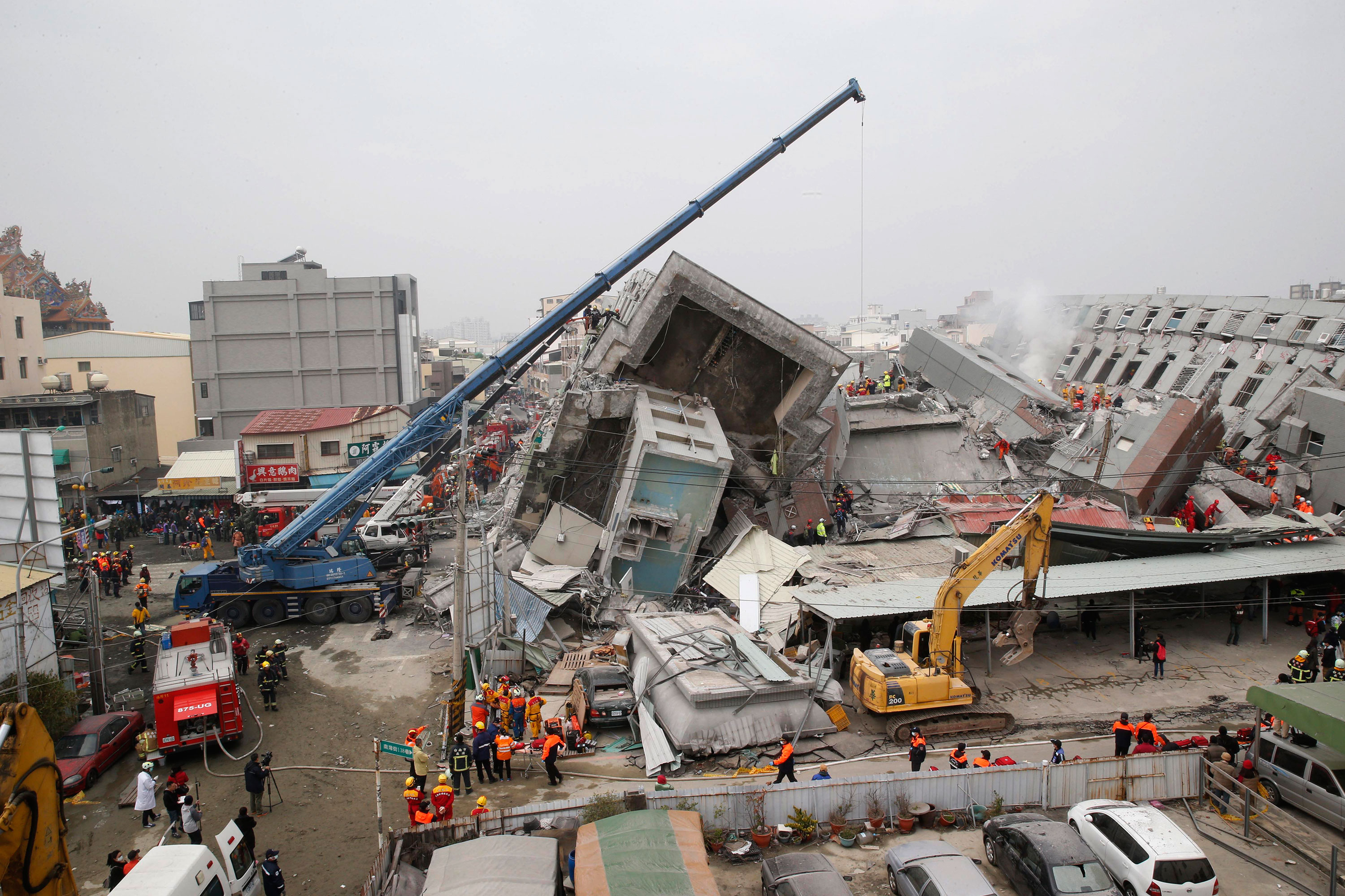 A powerful earthquake struck southern Taiwan before dawn on Saturday. [Wally Santana/AP]