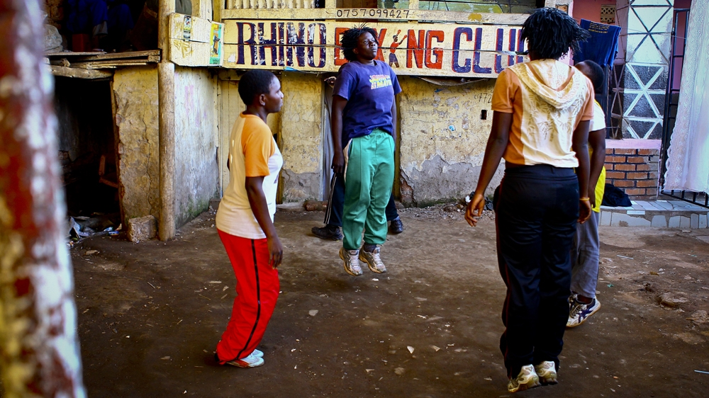 Meet the female boxers fighting for their future in a Kampala slum.
