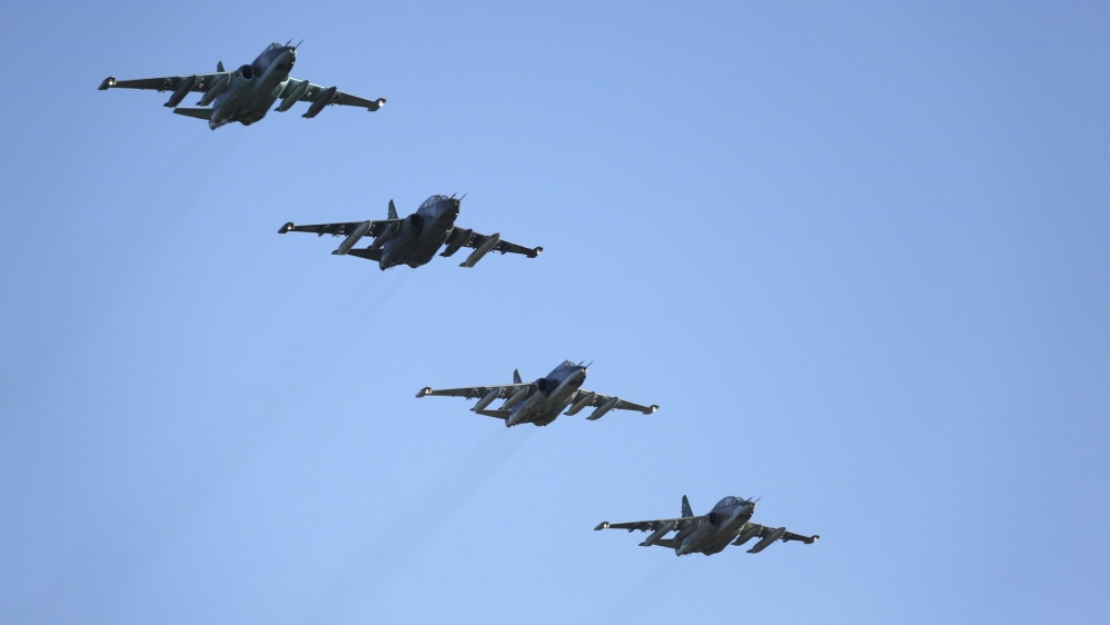 Russian and Turkish jets 'bomb ISIL' in Syria's Al Bab
