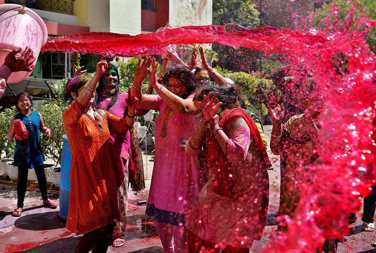 Image result for holi fest in water
