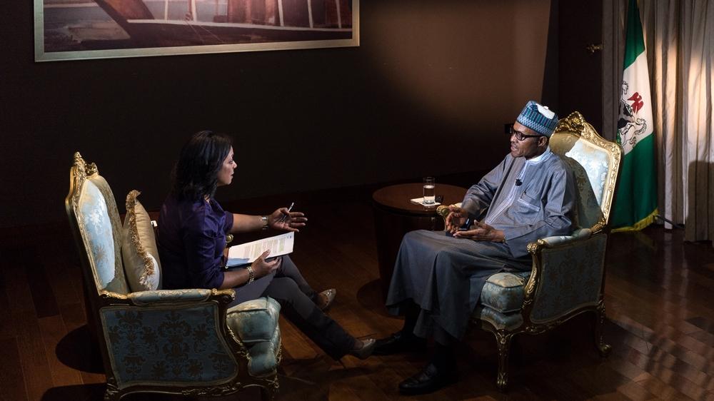 Buhari interviewed on Aljazeera
