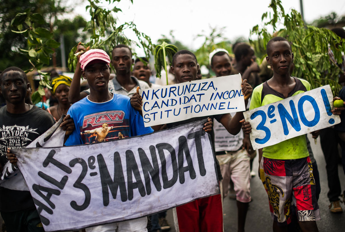 Thousands took to the streets when protests erupted last year in Burundi, opposing the president's bid for a third term in office. [Phil Moore/Al Jazeera]
