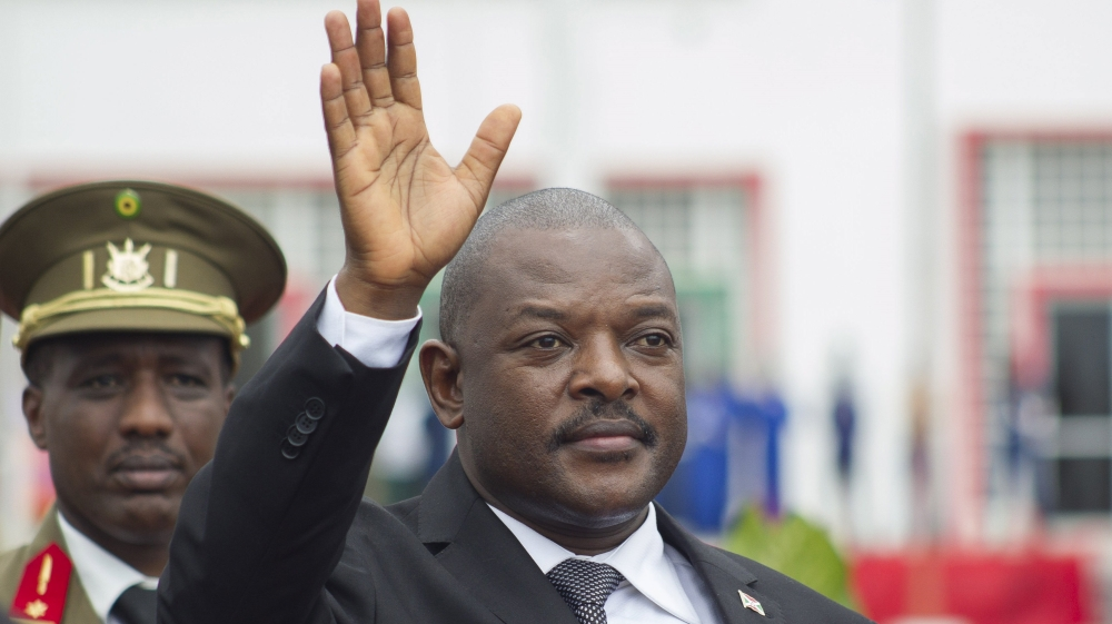 President Pierre Nkurunziza says killing of top general was shameful and that attackers will be hunted down.