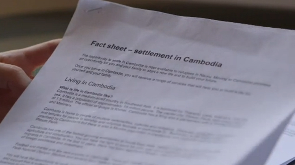 Outsourcing refugees: 'How will I survive' in Cambodia? | Cambodia