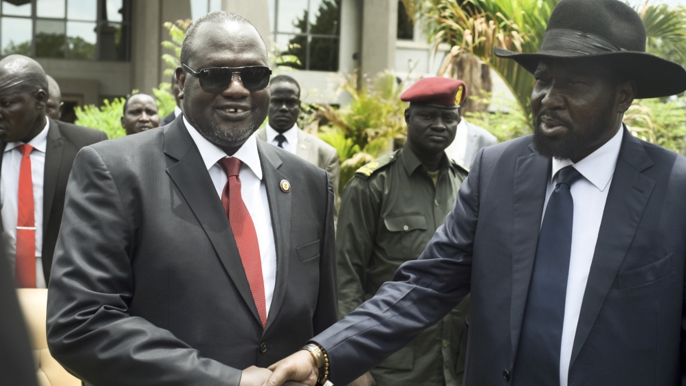 Leaders of Africa's newest country have formed a transitional coalition government.