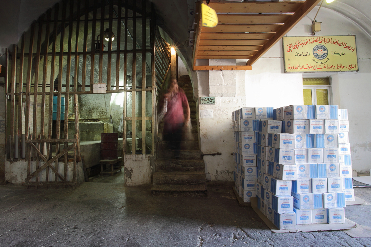 The Tuqan family soap factory has operated from its current premises, at the entrance to the old city of Nablus, for about 100 years. [Rich Wiles/Al Jazeera]