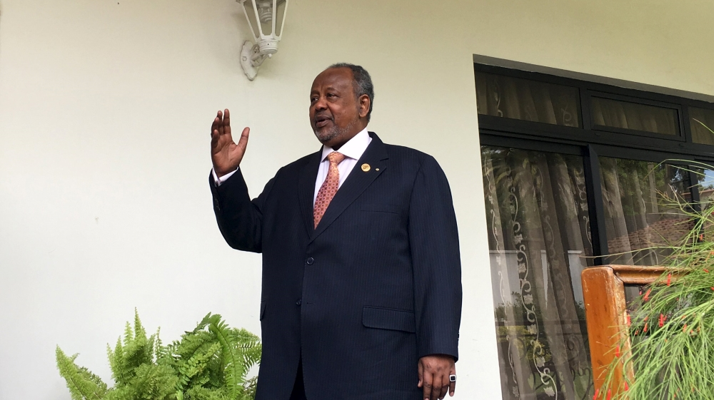 Leader of UMP party, which has a tight grip on power, to continue to head strategically important Horn of Africa nation.