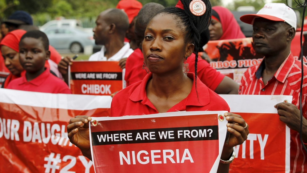 One of the 219 schoolgirls seized more than two years ago found in Sambisa Forest area of Borno state.