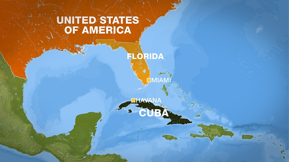 First Us Cruise Ship In Nearly 40 Years Docks In Cuba News Al - Us-cuba-map