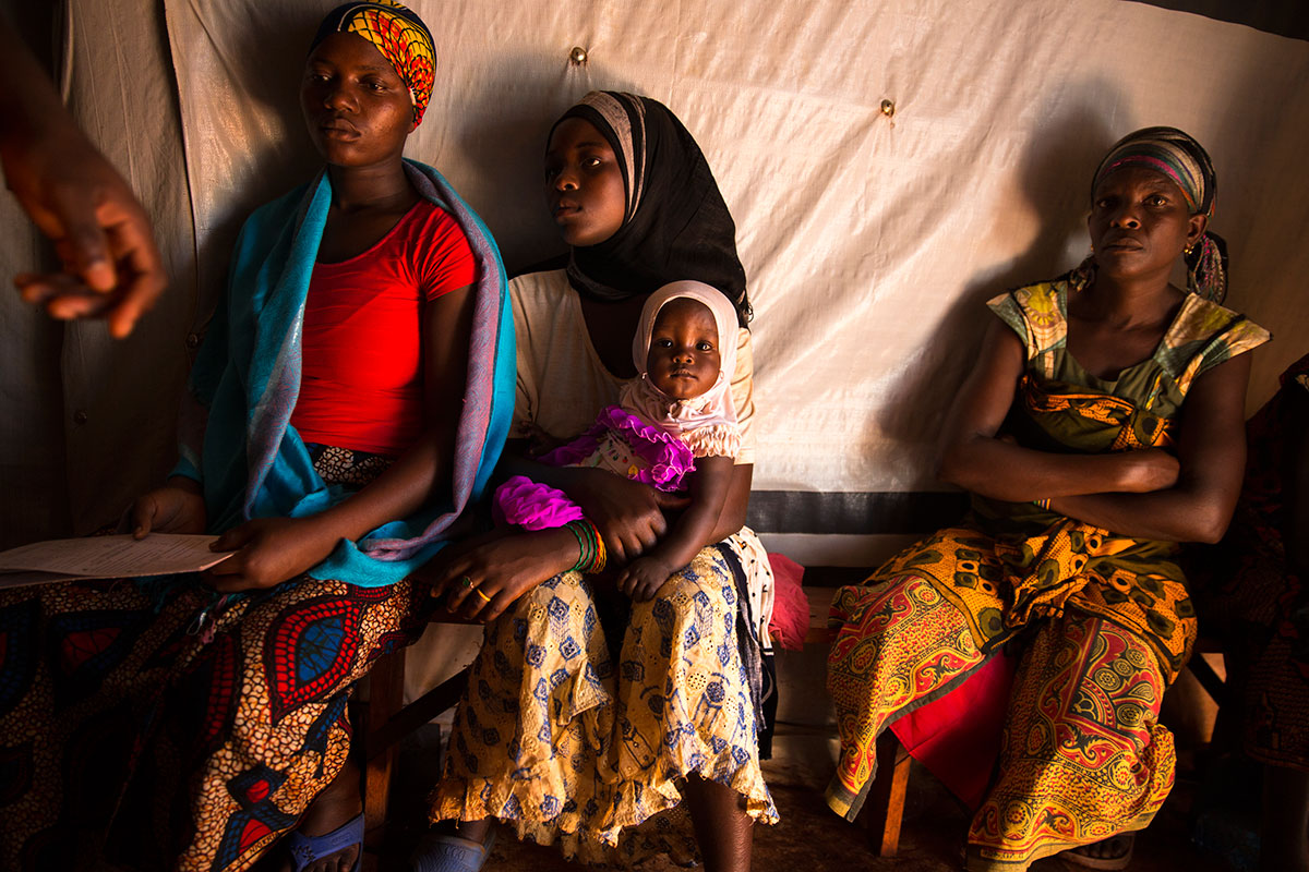 Women wait in a maternity centre run by the International Rescue Committee. [Griff Tapper/IRC]