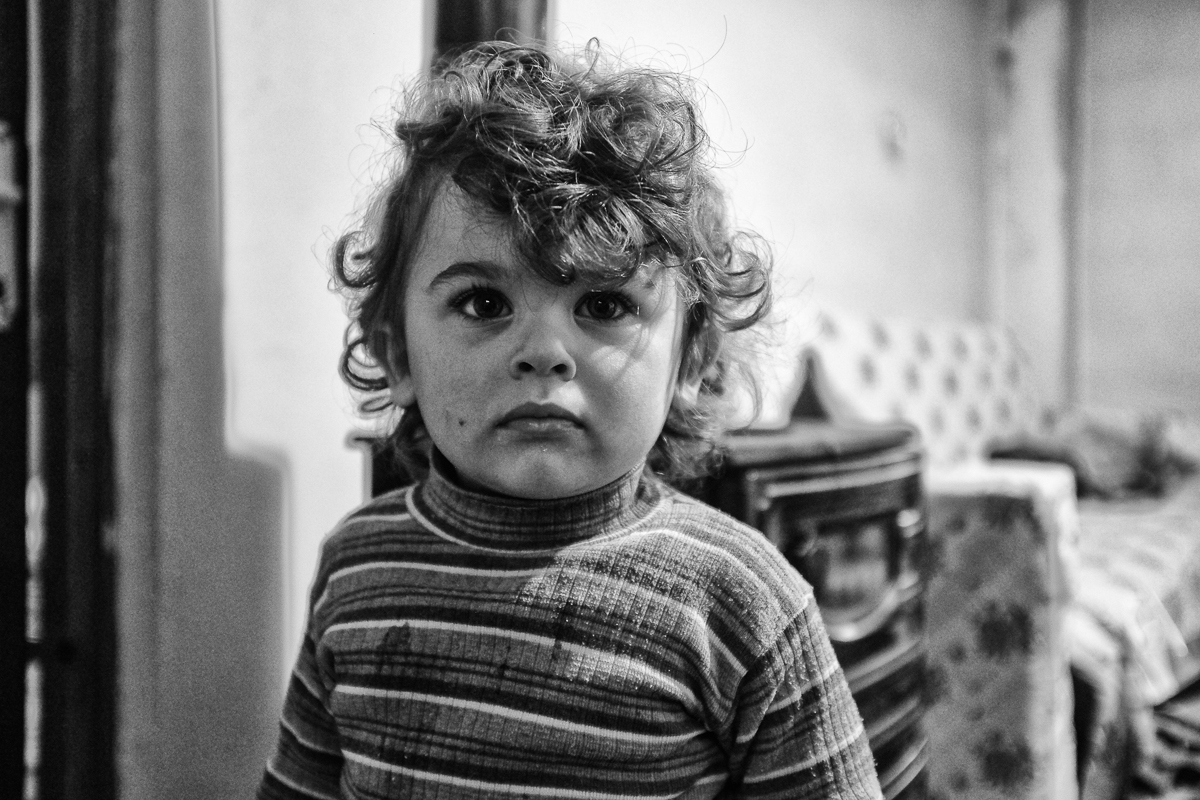 Close to half of the 2.7 million Syrian refugees now living in Turkey are children. Ibrahim (age 2) and his family now live in Jabal, an impoverished neighbourhood, nestled at the foot of a mountain in Hatay. [Safiyyah Patel/Al Jazeera]