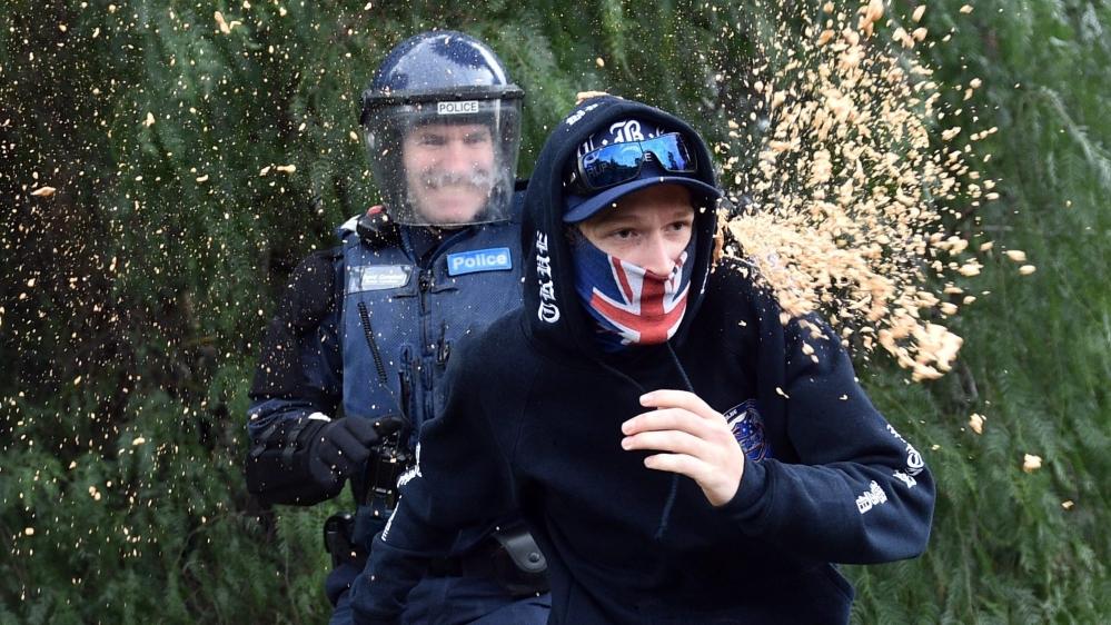 Anti-Islam protest descends into violence in Australia