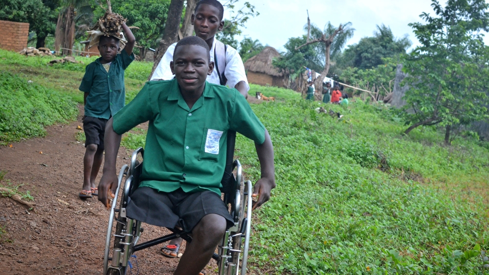 David Nyorkor lost his family to Ebola and his leg to a misdiagnosis in a hospital overwhelmed by the epidemic.