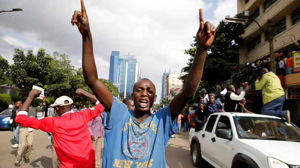 Opposition has been staging angry protests across Kenya, calling for reform of body that oversees elections.