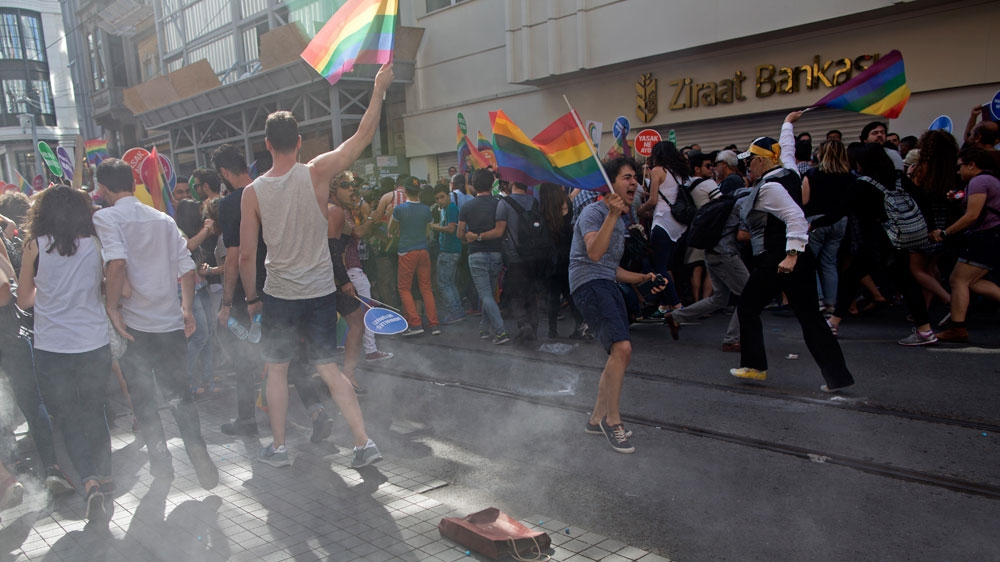 Image result for turkish banned gay pride march