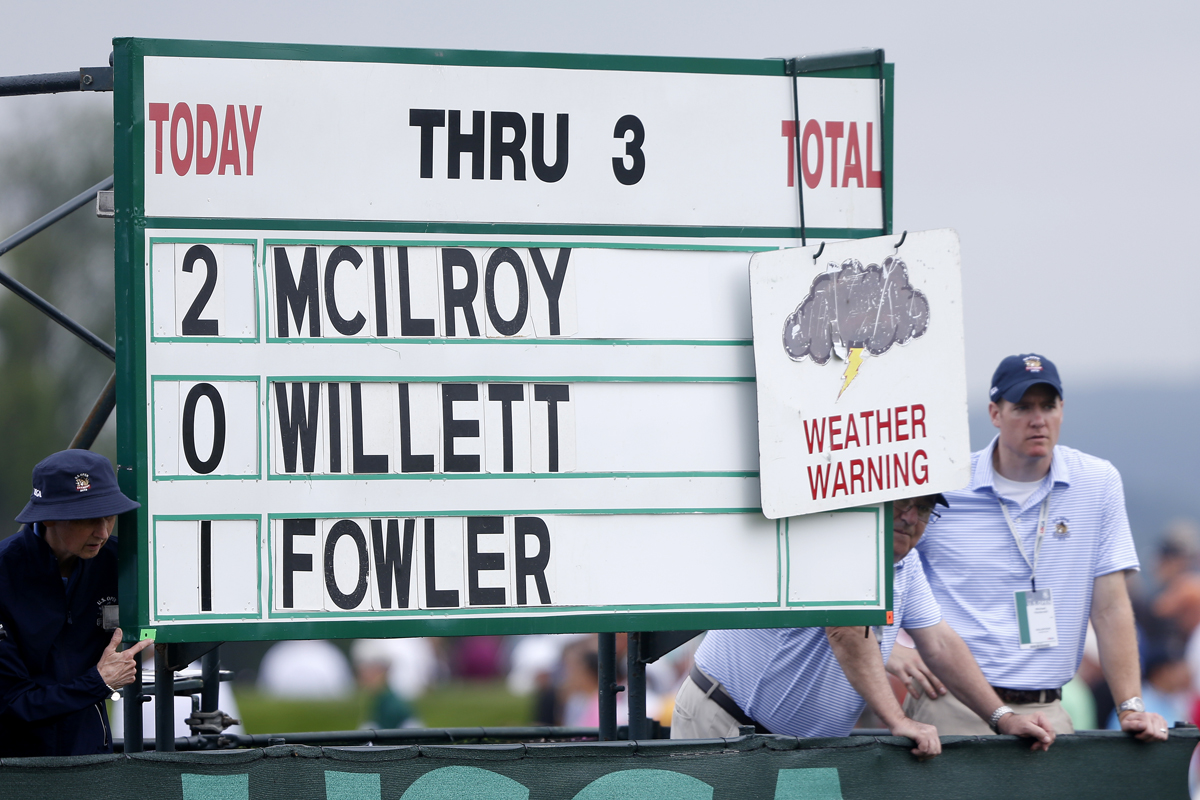 Rory McIlroy was one of those golfers who suffered as a result of the interruptions during play. [Michael Reynolds/EPA]