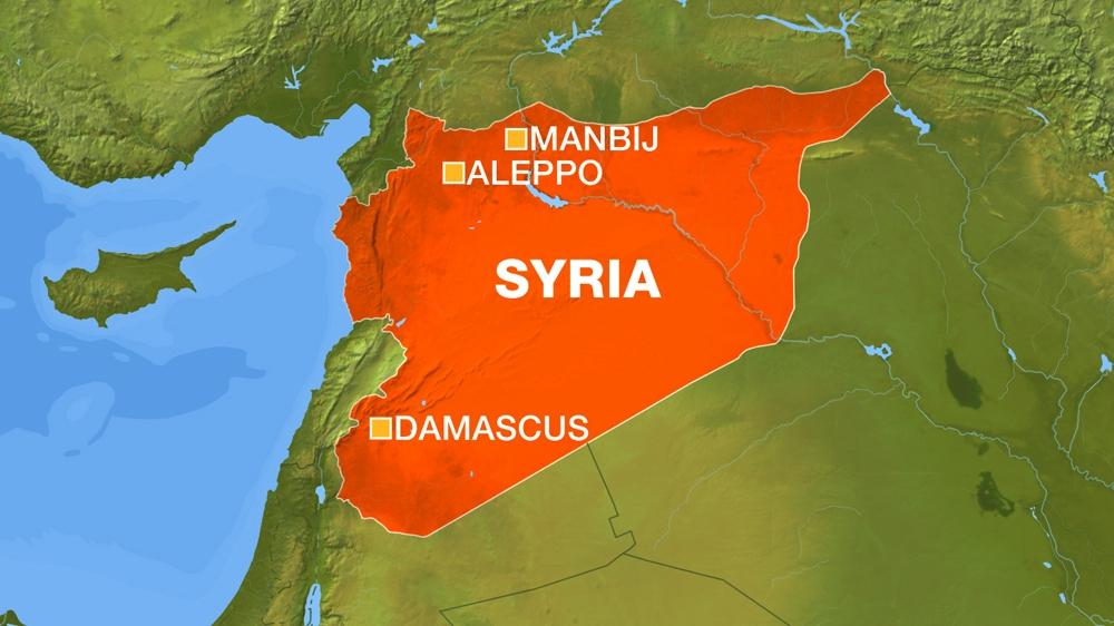 Image result for map of Manbij Syria