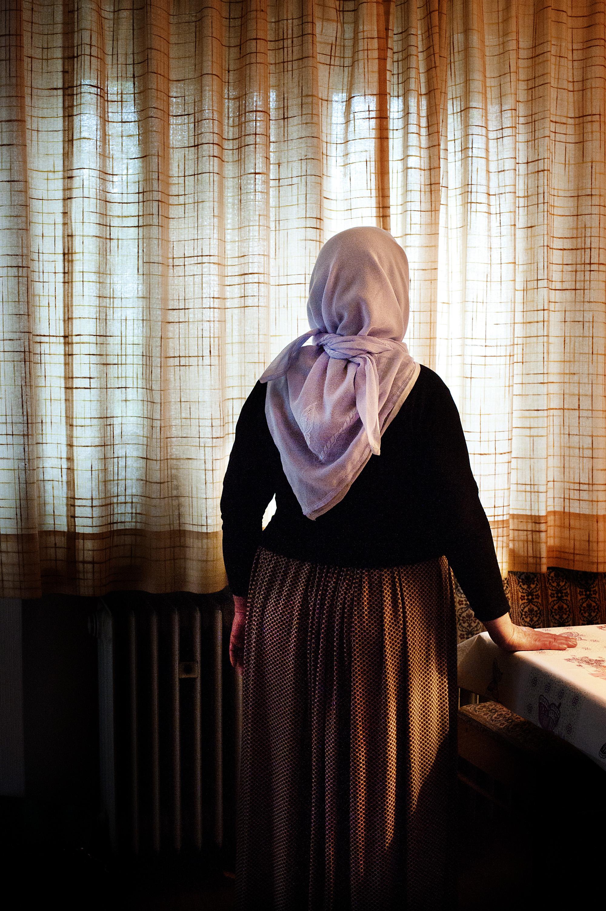 Dilan, 50, is the first woman who arrived in the village [Mona van den  Berg/Al Jazeera]