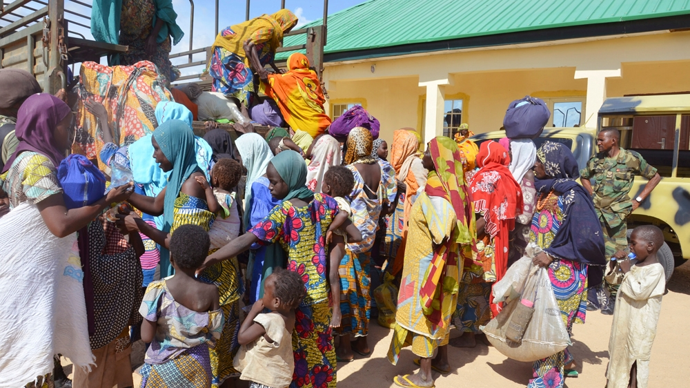 One civilian and six Boko Haram fighters killed during operation to evacuate four villages in the country's northeast.