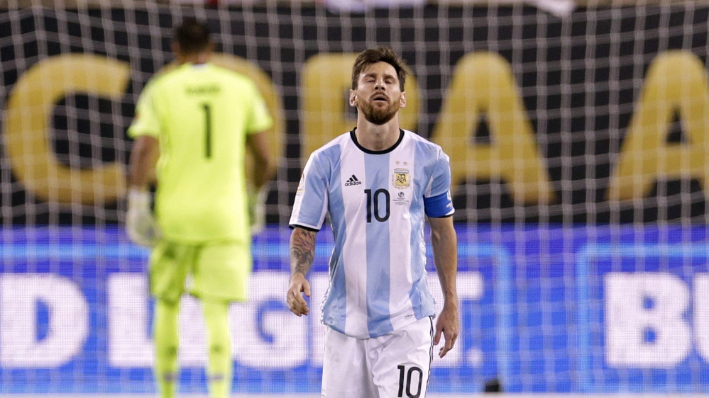 Lionel Messi Quits Argentina Team After Chile Defeat News Al Jazeera