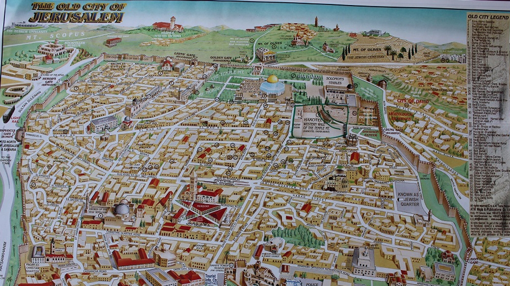 Israel removes key sites from Jerusalems Old City Map Palestine