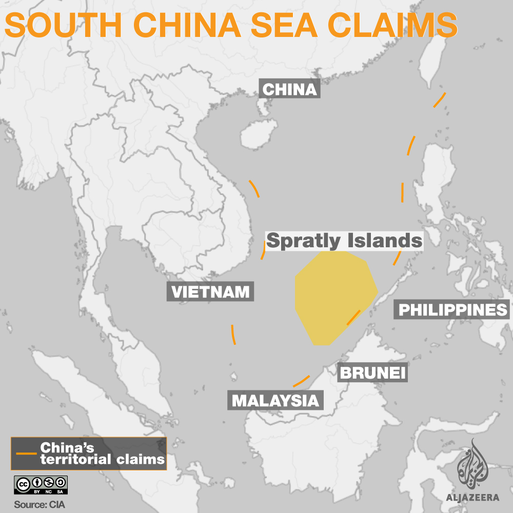 South China Sea Row Tops ASEAN Summit Agenda News Al Jazeera - Us agenda map
