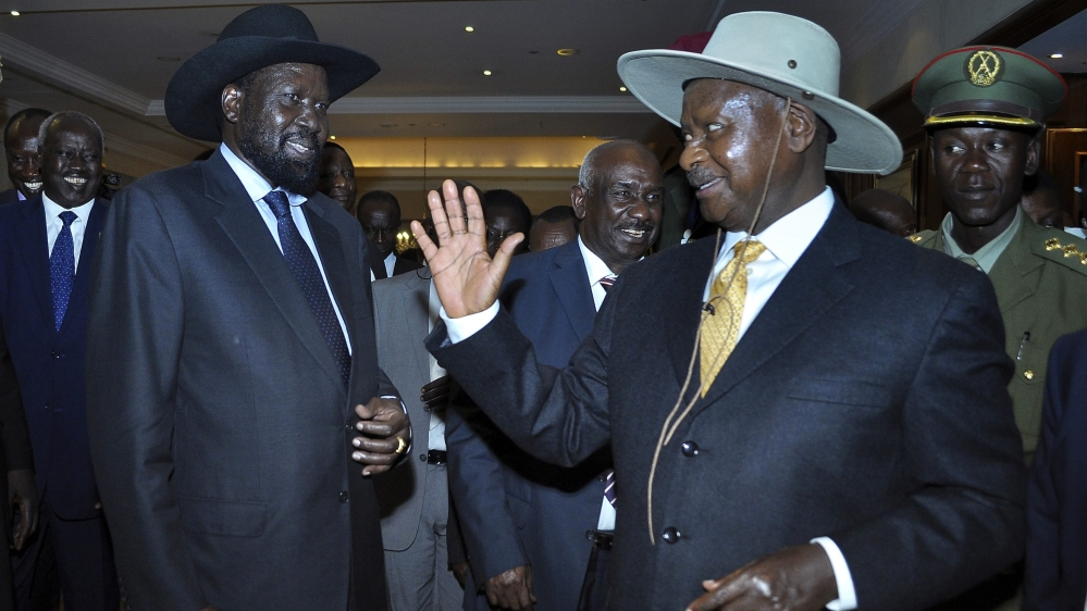 Museveni says arms embargo would weaken Juba's army at a time when it is trying to contain a resurgence of violence.